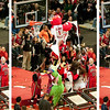 Benny the Bull missed a great dunk attempt over the evening's guest mascots