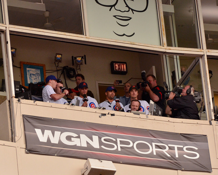 Chicago Blackhawks singing 7th inning stretch