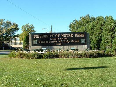 Notre Dame Campus Entrance