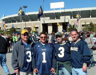 Brett, Chris, Steve & Jim at Notre Dame