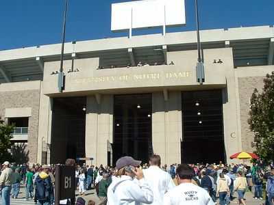 Notre Dame Stadium Entrance
