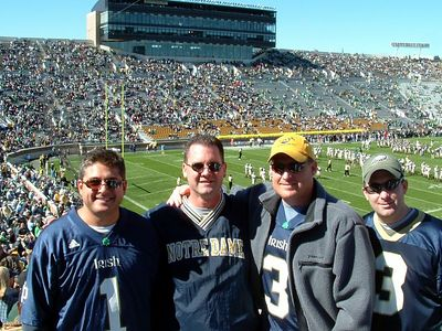 Chris, Jim, Brett &  Steve at Notre Dame