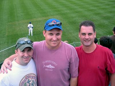 Steve Brett & Jim behind Sammy Sosa