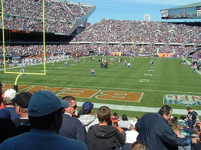 View from our endzone seats