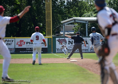 The ball stays lands fair as Chico State plays Sonoma State on Saturday, April 23, 2016, at Nettleton Stadium in Chico, California. (Dan Reidel -- Enterprise-Record)