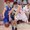 Matt Hamilton/The Daily Citizen<br /> T1 tries to steal the ball from CHS4 as he dribbles down the court Saturday.