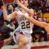 Matt Hamilton/The Daily Citizen<br /> C22 puts up a shot in the lane Friday.