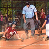 Matt Hamilton/The Daily Citizen<br /> C15 Sierra Dixon is safe at home as D2 Gabby Fuller can't apply the tag in time.