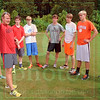 Matt Hamilton/The Daily Citizen<br /> CHS xc coach talks to his team about keeping their laps at the same pace as they practice Tuesday at CHS.