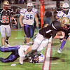 Matt Hamilton/The Daily Citizen<br /> CHS16 dives for a first down Friday.