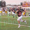 Matt Hamilton/The Daily Citizen<br /> CHS18 sees nothing but open turf after a drive-ending interception Thursday. The pick would count, however, the runback was nullified by a Lion penalty on the return.