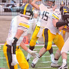 Matt Hamilton/The Daily Citizen<br /> NM15 fires a ball at a WR but the pass falls incomplete.