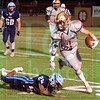 Matt Hamilton/The Daily Citizen<br /> CHS7 avoids a tackler, NC24.