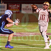 Matt Hamilton/The Daily Citizen<br /> NC9 rushes CHS10 as he releases the ball.