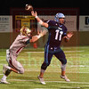 Matt Hamilton/The Daily Citizen<br /> CHS1 forces NC11 to throw a incomplete pass on fourth down.