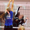 Matt Hamilton/The Daily Citizen<br /> NW22 defends as C9 puts a ball over the net Thursday.