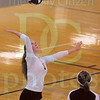 Matt Hamilton/The Daily Citizen<br /> CHS5 Brenna Mugge returns a shot Tuesday.