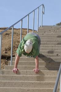 Reverse Stair Pushups