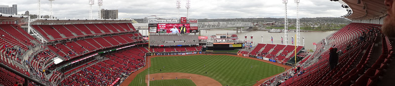 The $7 Bob Uecker seats.  We were the only ones sitting in the top row...for the whole game.  Great view.