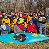 Annual New Year's Day (2015) paddle of Cincypaddlers.org on the Little Miami River (8 degrees with windchill factor). Photo by Fred Haaser
