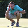 Round 2 of the Lowell City Golf Tournament, at Long Meadow Golf Club. Andrew Conway of Vesper studies his putt on the 16th hole. (SUN/Julia Malakie)