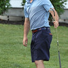 Round 2 of the Lowell City Golf Tournament, at Long Meadow Golf Club. Ryan Friel of Vesper watches his putt miss on the 18th green. (SUN/Julia Malakie)