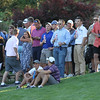 Round 2 of the Lowell City Golf Tournament, at Long Meadow Golf Club. Spectators at the 18th hole watching the final groups come in. (SUN/Julia Malakie)