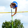 Newton's Matthew Tolliver-Goode easily clears the bar at the pole vault at the Class 1A state preliminary meet at Eastern Illinois University.