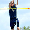 Teutopolis' Andrew McWhorter clears the bar during the pole vault at the Class 1A state preliminary meet at Eastern Illinois University.