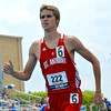 St. Anthony's Andrew Gardewine runs during the 800-meter run, and would advance to the state finals Saturday with his efforts at the Class 1A preliminary meet at Eastern Illinois University.