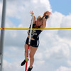 Teutopolis' Isabelle Hemmen clears the bar at the Class 1A girls track and field state finals, on Thursday, July 10, 2021, at O'Brien Field on the campus of Eastern Illinois University in Charleston, Illinois.
