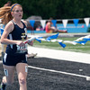 Megan Weichman, a junior at Teutopolis High School, competes in the Class 1A final 4 x 800-Meter Relay event for the Illinois High School Association at Eastern Illinois University.