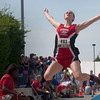 Courtney Croy, a Neoga High School Senior, competes in the Class 1A Final Long Jump event Saturday morning at Eastern Illinois University for the Illinois High School Association state track and field competition.
