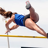 Kristin Slaughter, a freshman at St. Anthony's High School, competes in the Class 1A Pole Vault event for the Illinois High School Association track and field competition at Eastern Illinois University.