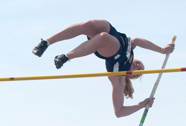 Teutopolis' Rachel Westendorf competes in the Class 1A pole vault event final at Eastern Illinois University Saturday.