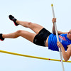 St. Anthony's Kristin Slaughter clears the bar in the pole vault.