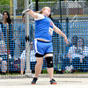 Newton's Reise Wyatt releases the discus on her throw during the discus competition.