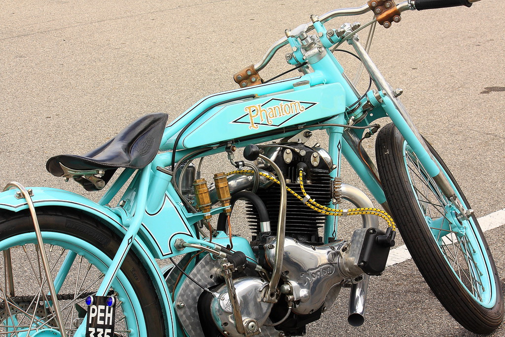 The Phantom EG is a 1920's Board Tracker inspired custom motorcycle from The Phantom manufacturing company in the United Kingdom.