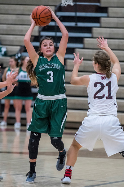 Northridge beats Clearfield 53-49 in a nail biter at Northridge High School on Friday January 20, 2017.