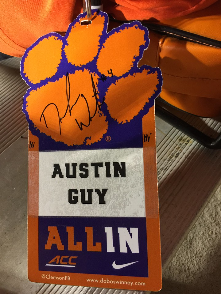 Austin's signed official badge