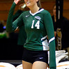 Katie Mihalik watches Cleveland State from the sidelines Nov. 19.  STEVE MANHEIM / CHRONICLE