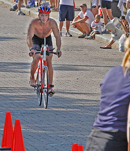 08/08/2010 Cleveland Triathlon  Adam Kuncel the bike ride. Photo by Tom Mahl
