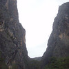 350m on the left, 200m on the right. One of the most impressive bits of rock in Australia