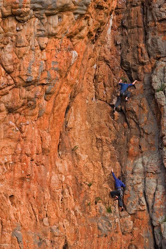 Adam and Mark warm-up by soloing Mantis (14). Photo Neil Monteith