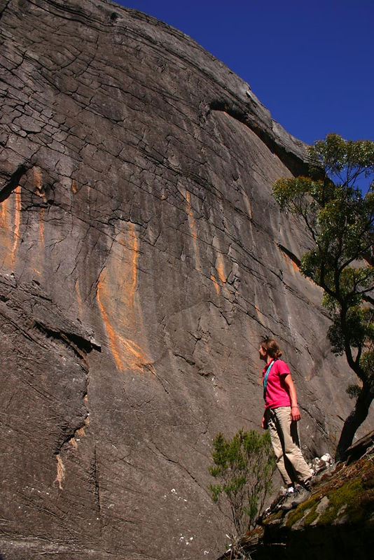 The mighty Steve Monks classic of the Cold War (23). This wall is 60m high! One of the most impressive in the Grampians.