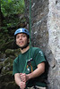 "looking bored during the longest belay of the day . . . belaying sean leading a ""10b warmup"" . . .which turned out to be an 11c . . . oops.  great warmup i suppose"