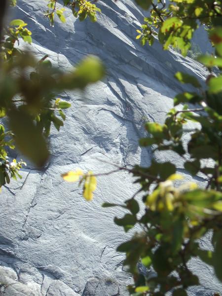 "some climbers on ""old smokey"" across on calaveras dome"