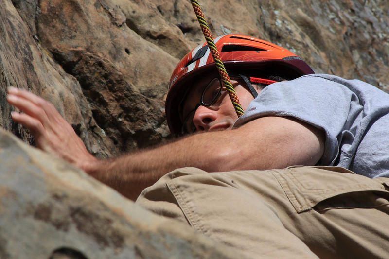 the holds were tiny up there, glasses were a definite help