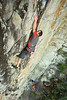 Neil redpoints Madder (25) - a true three star route at Slider Wall