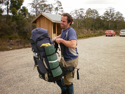 My back hurts already. By the end of this trip the waist band had broken so my poor shoulders took all the load.